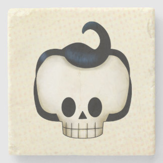 Cráneo rebelde posavasos de piedra