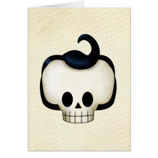 Cráneo rebelde tarjeta de felicitación