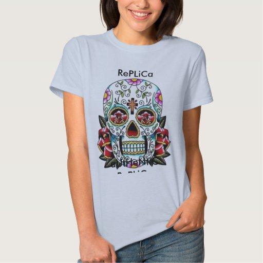cráneo, reproducción auténtica, reproducción camisetas