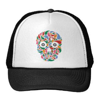Cráneo retro/abstracto del descenso del color de P Gorro De Camionero
