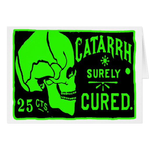 Cráneo retro de la curación del catarro del monstr tarjetas