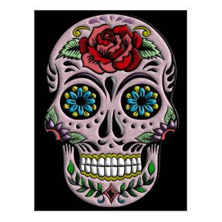 Cráneo retro del azúcar del gótico tarjeta postal