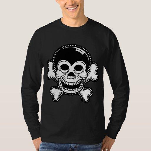Cráneo retro del pirata del mono de Toon Remeras