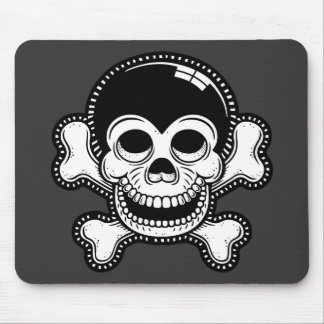 Cráneo retro del pirata del mono de Toon Tapete De Ratones