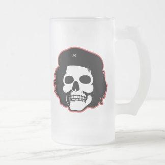 Cráneo revolucionario jarra de cerveza esmerilada