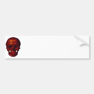Cráneo rojo etiqueta de parachoque