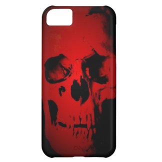 Cráneo rojo carcasa para iPhone 5C
