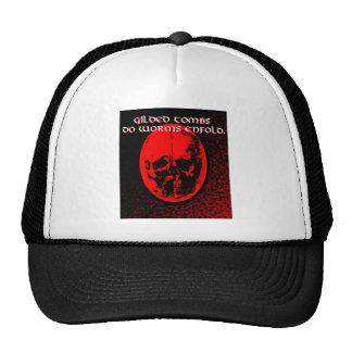 Cráneo rojo con la cita de Shakespeare Gorro De Camionero