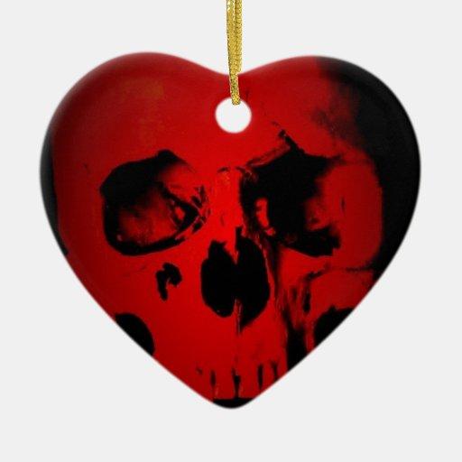 Cráneo rojo ornamentos de reyes