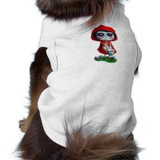 Cráneo rojo del azúcar de la capa con capucha prenda mascota