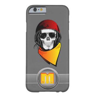 cráneo rojo del rebelde del casco del monograma 3D Funda Barely There iPhone 6