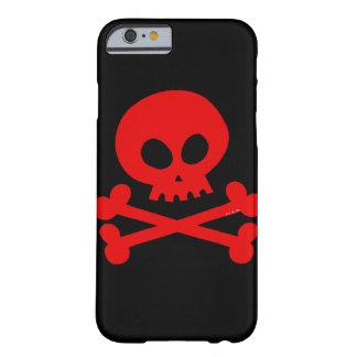 cráneo rojo funda de iPhone 6 slim