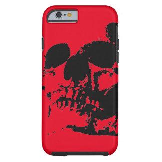 Cráneo rojo funda para iPhone 6 tough