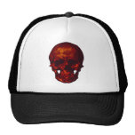 Cráneo rojo gorras de camionero