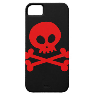 cráneo rojo iPhone 5 Case-Mate cobertura