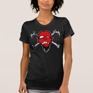 Cráneo rojo para mujer de RottenMouth Playeras