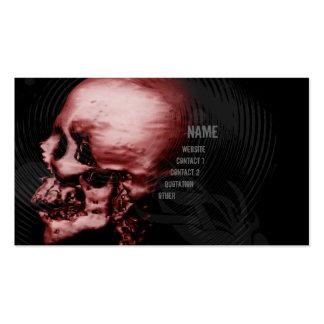 Cráneo rojo tarjetas de visita