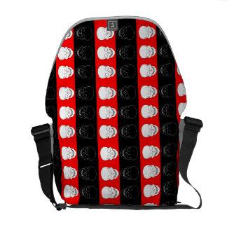 cráneo rojo y negro bolsas de mensajeria