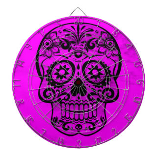 Cráneo, rosa 04 tabla dardos