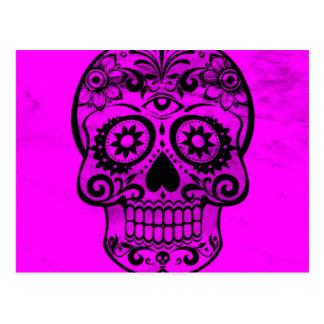 Cráneo, rosa 04 postales