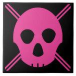 Cráneo rosado de Johnny Azulejos Ceramicos