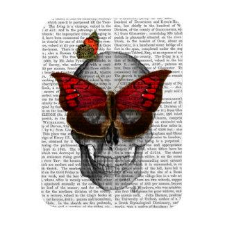 Cráneo rosado de la máscara de la mariposa imán