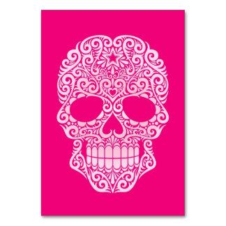 Cráneo rosado del azúcar que remolina
