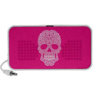 Cráneo rosado del azúcar que remolina iPhone altavoz