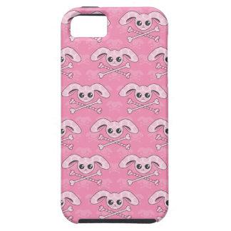 Cráneo rosado del conejito de Kawaii iPhone 5 Carcasas