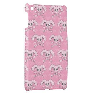 Cráneo rosado del conejito de Kawaii iPad Mini Funda