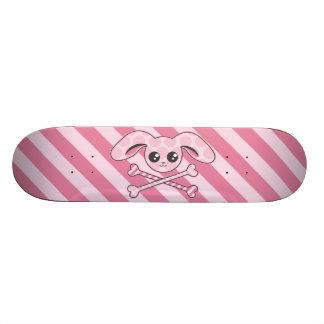 Cráneo rosado del conejito de Kawaii Patinetas Personalizadas
