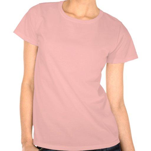 Cráneo rosado del pirata camisetas