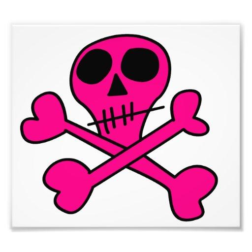 cráneo rosado foto