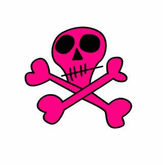 cráneo rosado fotoescultura vertical