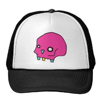 Cráneo rosado gorra
