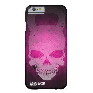 Cráneo rosado Kettlebell - edición limitada Funda Para iPhone 6 Barely There