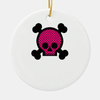 Cráneo rosado negro ornamento para reyes magos
