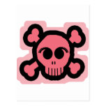 Cráneo rosado postal