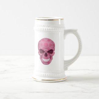Cráneo rosado Stein del camuflaje Jarra De Cerveza