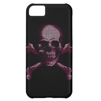Cráneo rosado y bandera pirata del pirata funda para iPhone 5C