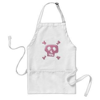 Cráneo rosado y bandera pirata delantales