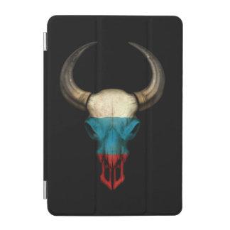 Cráneo ruso de Bull de la bandera Cover De iPad Mini