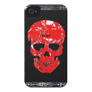 Cráneo sangriento de la identificación de Iphone 4 Case-Mate iPhone 4 Cárcasa
