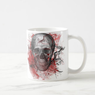 Cráneo sangriento del Grunge gótico Taza