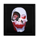 Cráneo sangriento del pirata caja de regalo