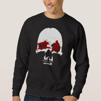 cráneo sangriento viejo suéter