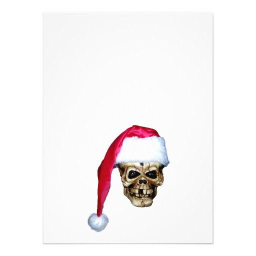 Cráneo Santa Invitaciones Personales