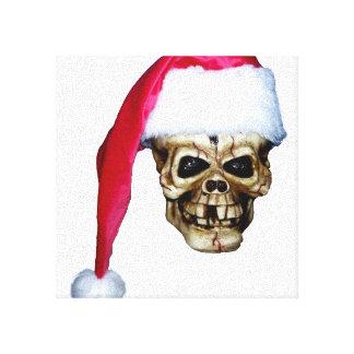 Cráneo Santa Impresión En Lona Estirada