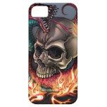 Cráneo + Serpiente iPhone 5 Case-Mate Protectores