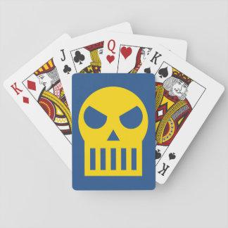 Cráneo simple barajas de cartas
